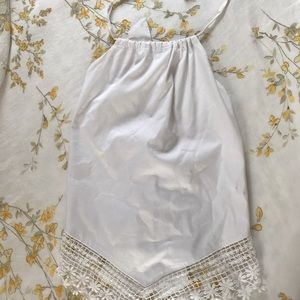 Guess Lace Tie Halter Top